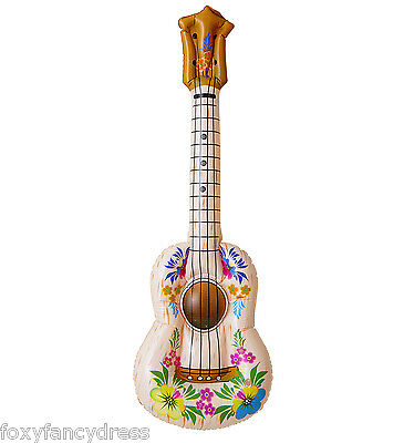 Inflatable Hawaiian Party Ukulele Mini Guitar Music Fancy Dress 105 cm
