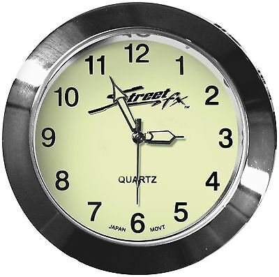 Street FX - 1045902 - Handlebar Clock, Chrome
