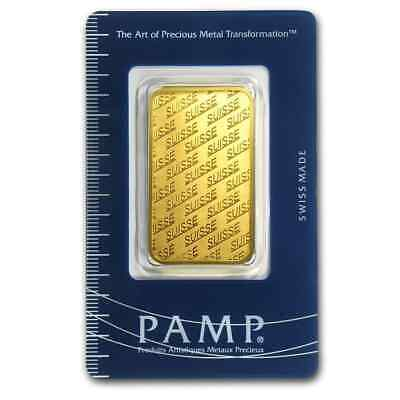 1 oz Pamp Suisse Gold Bar - New Design - In Assay - SKU #84698