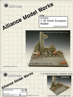 Alliance Model Works 1:35 Small European Rubble Resin Diorama Base #LW35002