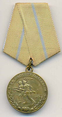 Russian WWII Medal for the Defence of Odessa