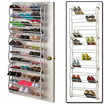 New 12 Tier 36 Pairs Bar Over The Door Shoe Stand Organizer Rack Shoes Storage