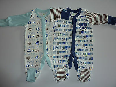 DISNEY 2 Really Cute Little MICKEY MOUSE Sleepsuits NWT