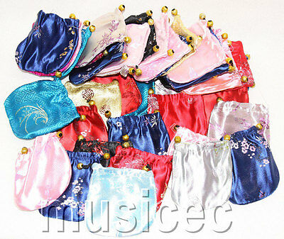 50pcs MIX colors silk jewelry pouchs Bags Gift packing T476A66