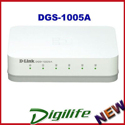 D-Link DGS-1005A 5-Port Gigabit Standalone Network Switch
