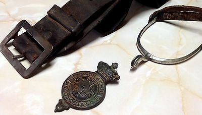 1800s Rare Victorian Colonial Military Forces Horse Badge Spurs Australian AAC