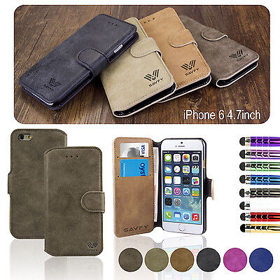 FLIP WALLET LEATHER CASE COVER STAND For APPLE IPHONE 5 5S 5SE SCREEN PROTECTOR