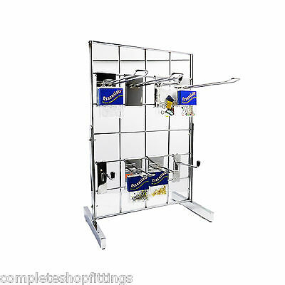 "SMALL COUNTER-TOP 12"" x 18"" GRIDWALL MESH CHROME, SHOP ACCESSORY DISPLAY PANEL"