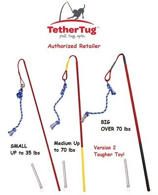 Tether Tug Outdoor Dog Toy Interactive Backyard Tugging Pull Exercise Small-UBER
