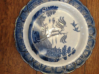 Booths Real old Willow, Silicon China England Plate.  Rare due to pattern