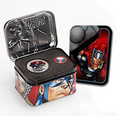 2014 Niue 1 Troy Oz .999 Silver Marvel Avengers Thor Proof $2 Coin SKU33843