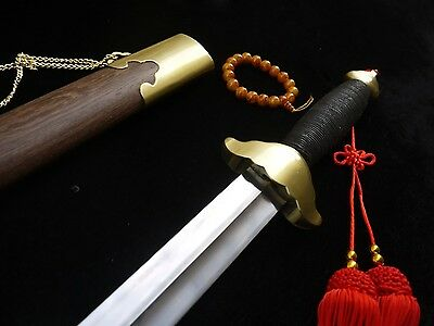 Training sword TAI CHI jian Stainless steel blade Rosewood Scabbard Alloy Knife