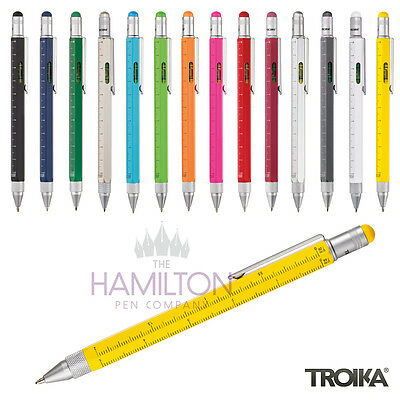 TROIKA CONSTRUCTION STYLUS TOOL PEN - Multi-Function Ballpoint Pen!