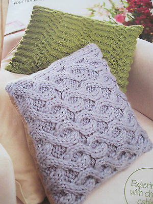 Free Aran Cable Cushion Knitting Patterns Very Simple Free