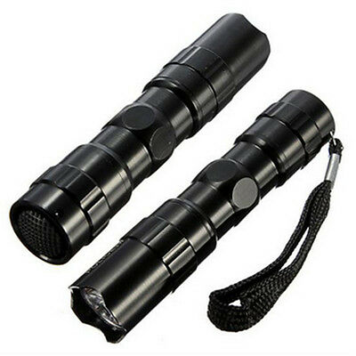 NEW Practical Black Mini Led Flashlight Torch Light Lamp Outdoor Camping 3W 1AA