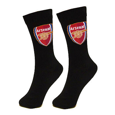 Arsenal FC Official Football Gift Mens Dress Socks Black