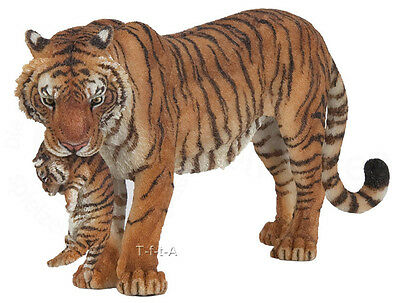 FREE SHIPPING | Papo 50118 Tigress with Cub Wild Tiger Figurine - New in Package