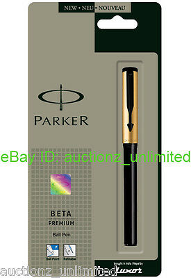Parker Beta Premium Gold Ballpen Ball Pen- Brand New Sealed 100% Original