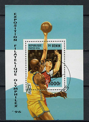 Benin 1996 SG#MS1406 Basketball Used M/S #A78058