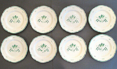 SET of 8 GEFLE Upsala Uppsala Ekeby Ceramic Sweden 34 IRIS Salad Plates Green