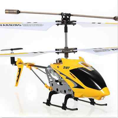 Syma S107G Yellow 3.5 Channel 3CH Mini Remote Control RC Helicopter Gyro Genuine