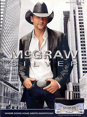 "2010 TIM McGRAW ""SILVER"" COLOGNE PROMO AD"