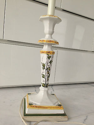 VINTAGE FREDERICK COOPER HAND PAINTED TABLE LAMP!  BEAUTIFUL COLORS!