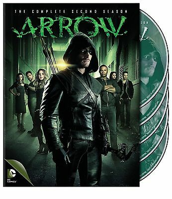 Arrow: The Complete Second  2nd Season 2 (DVD, 2014, 5-Disc Set) Free Shipping !