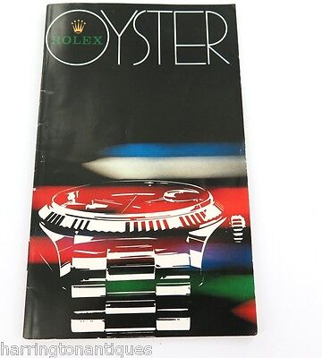 Vintage 1982 Rolex Issued Brochure Catalogue For Collector 6263 1675 16600 5513