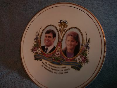 7 1/2 INCH PLATE RE WEDDING OF PRINCE ANDREW AND SARAH FERGUSON...23-7-1986..