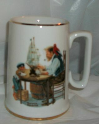 "1985 NORMAN ROCKWELL ""FOR A GOOD BOY"" COFFEE CUP"