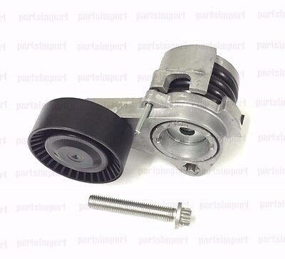 BMW Drive Belt Tensioner with Pulley + Bolt INA 11288624196, 11287530315