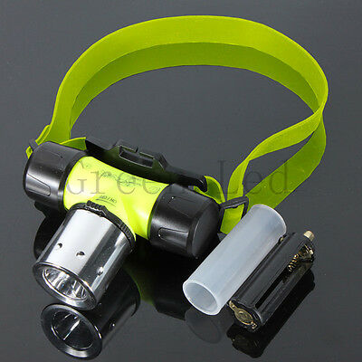 800Lm CREE T6 LED 18650 Swimming Waterproof Diving Headlamp Head Light Torch