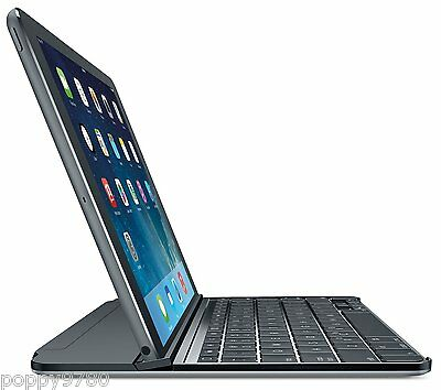 Logitech Magnetic Clip-On Ultra-thin Bluetooth Keyboard Case iPad Air Space Grey