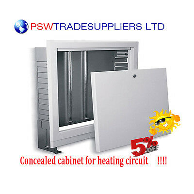 Concealed Cabinet For Heating Circuit UFH Manifold In-Wall Metal Cabinets