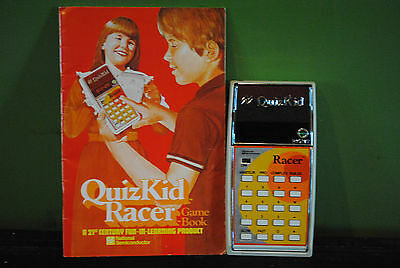 National Semiconductor QuizKid Racer Electronic Game & Calculator w/ Manual 1979
