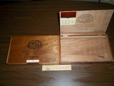 2 WOODEN PADRON 3000 MADURO EMPTY CIGAR BOX FOR CRAFTS