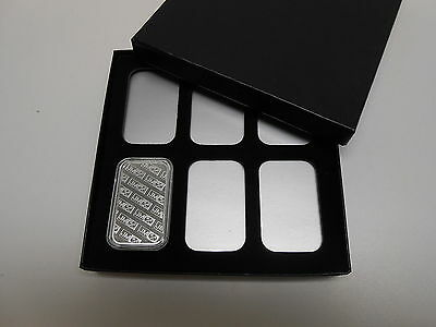 STORAGE & DISPLAY BOX FOR 6 1oz SILVER BARS IN AIRTITE CAPSULE HOLDERS