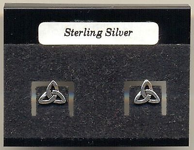 Celtic Trinity Knot Sterling Silver 925 Studs Earrings Carded