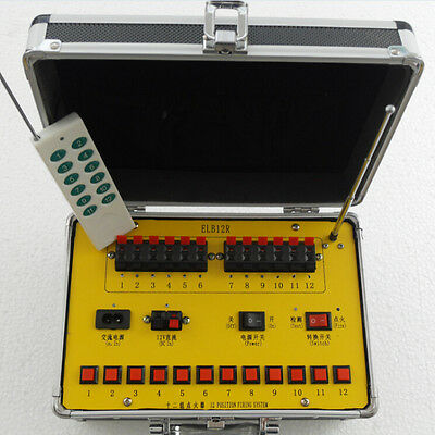 Free shipping +12 CH fireworks firing system  Remote control + Manual control