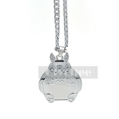 Anime My Neighbor Totoro Pendant Necklace Cute Cosplay Silver Tone Xmas Gift