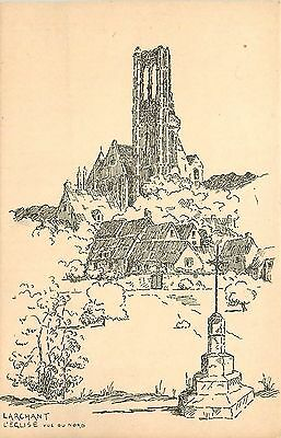77 Larchant Eglise Vue Du Nord Illustree