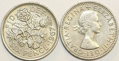 1953 to 1967 Elizabeth II Cupro-Nickel Sixpence Your Choice of Date