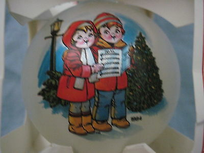 1989 Rare CAMPBELL'S SOUP KIDS Glass Ball Ornament FREE SHIPPING