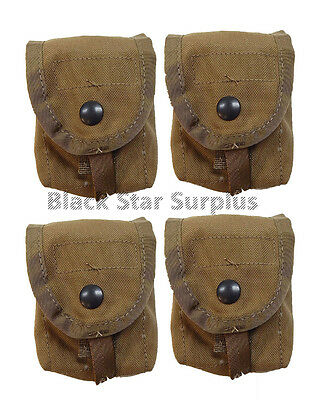 New!  USGI Military Surplus MOLLE II Hand Grenade Pouches -Coyote Brown  4 PACK
