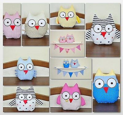 Soft Owls/Comforter Toy/Small and Big/ Nursery decoration/Soft toy/Decoration