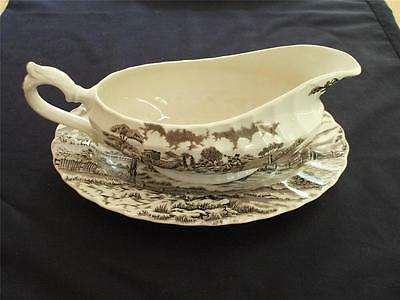 Gravy Boat and Underplate Royal Mail Staffordshire Ironstone by Myott