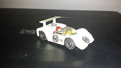 Vintage TYCO PRO #66 WHITE CHAPARRAL HO SLOT CAR with Driver. Nice!