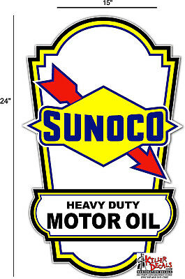 "24"" SUNOCO LUBSTER SIDE DECAL GAS AND OIL PUMP, SIGN, WALL ART STICKER a"