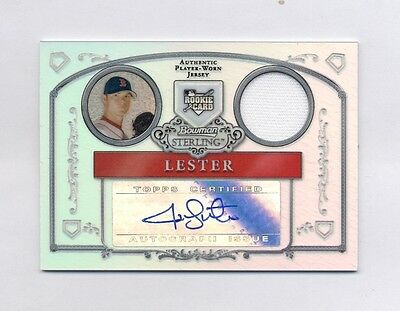 JON LESTER 2006 BOWMAN STERLING AUTO JERSEY REFRACTOR RC #153/199 CUBS